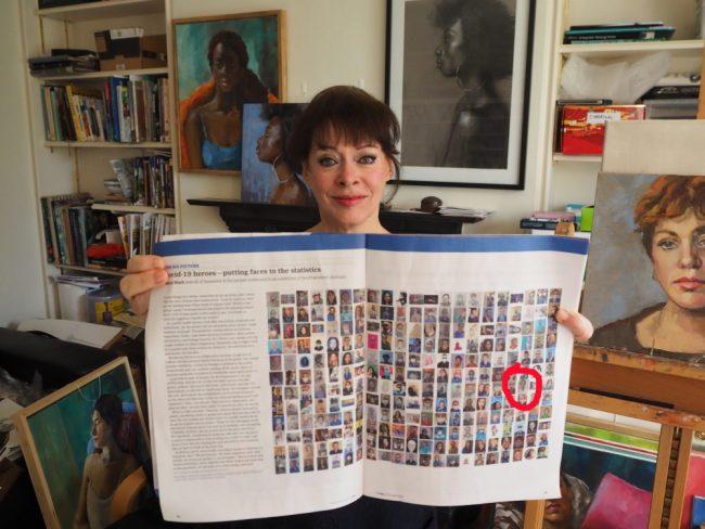 Jane Palmer, Brighton Artist - Portrait for NHS Hero featured in British Medical Journal